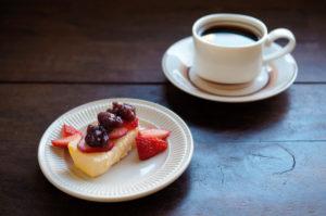 苺とあずきのチーズケーキ